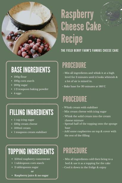 Raspberry Cheese Cake Recipe